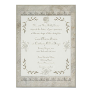 Goddess Juno Symbol for Marriage Marble Invitation