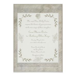 Goddess Juno Symbol for Marriage Marble Invitation