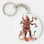 Goddess Kali Basic Round Button Keychain