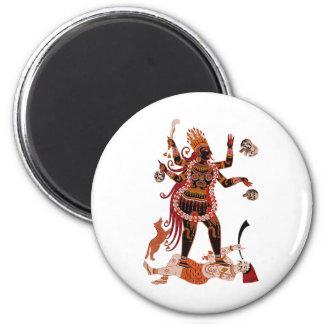 Goddess Kali 2 Inch Round Magnet