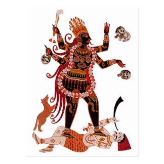 Goddess Kali Postcard
