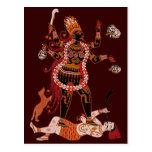 Goddess Kali postcards