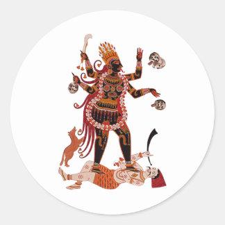 Goddess Kali Classic Round Sticker