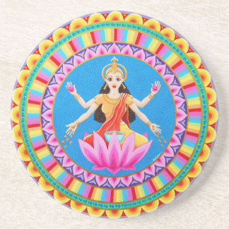 Goddess Lakshmi Mandala Coaster