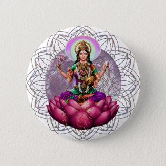 Goddess Lakshmi mandala Pinback Button