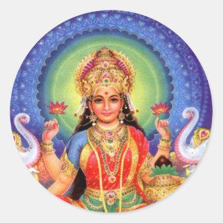 Goddess Lakshmi Mass Classic Round Sticker