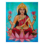 Goddess Lakshmi - Original art by Dori Hartley Poster