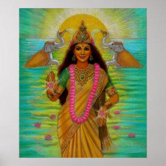 Goddess Lakshmi Poster Poster