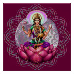 Goddess Lakshmi - wealth blessing mandala Poster