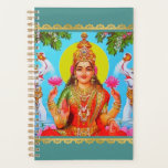 "Goddess Lakshmi White Elephants Diwali Painting Planner<br><div class=""desc"">Let blessed Sri Lakshmi help you keep life and household organized with this artistic Hindu goddess planner calendar. A modern digital painting of the beautiful goddess Sri Lakshmi. Lakshmi is the Hindu Goddess of wealth and prosperity, both material and spiritual. The word &#39;&#39;Lakshmi&#39;&#39; is derived from the Sanskrit word Laksme,...</div>"