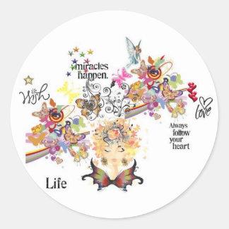 Goddess LOVE Sticker's Classic Round Sticker