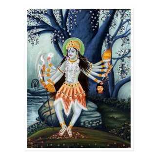 GODDESS MA KALI BEAUTIFUL POEM POSTCARD