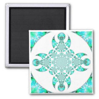 Goddess moon mandala refrigerator magnet