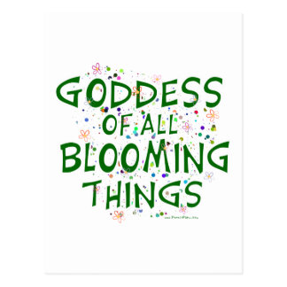 Goddess of all Blooming Things Postcard