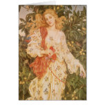 Goddess of Blossoms and Flowers, Flora by Morgan Greeting Card