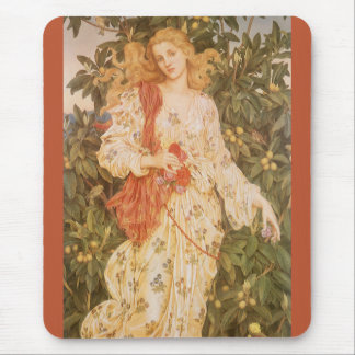 Goddess of Blossoms and Flowers, Flora by Morgan Mouse Pad