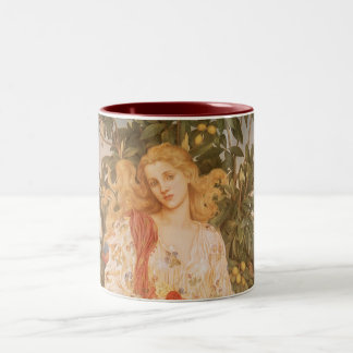 Goddess of Blossoms and Flowers, Flora by Morgan Two-Tone Coffee Mug