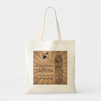 Goddess of Caffeine funny coffee gift Budget Tote Bag