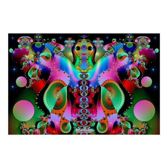 Goddess of Colors Poster