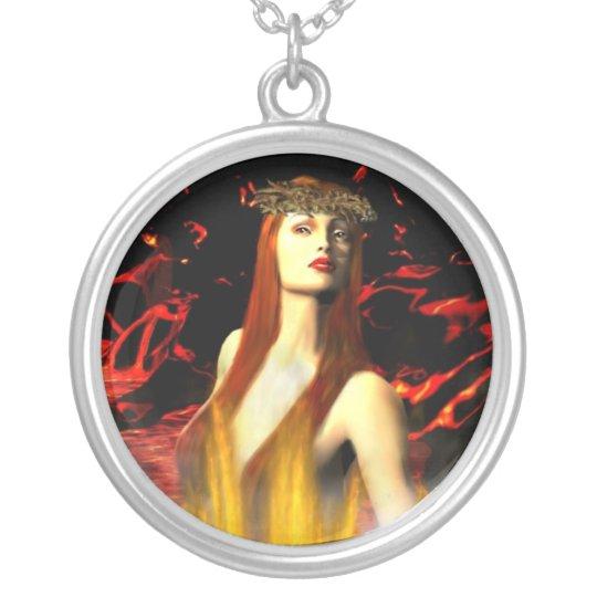 Goddess of Fire Pele Necklace