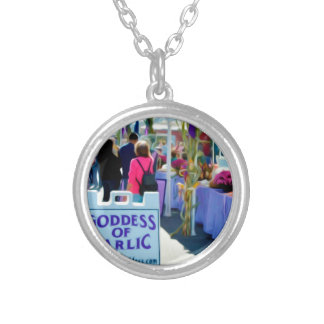 Goddess Of Garlic 1 Silver Plated Necklace