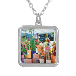 Goddess Of Garlic Silver Plated Necklace