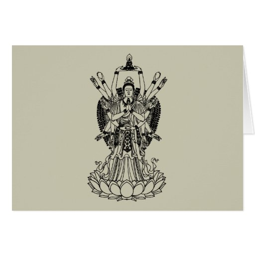 Goddess Of Mercy Greeting Cards