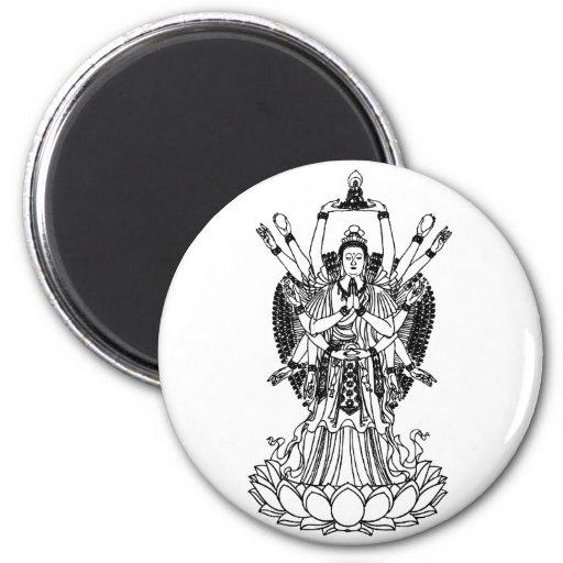 Goddess Of Mercy Refrigerator Magnets