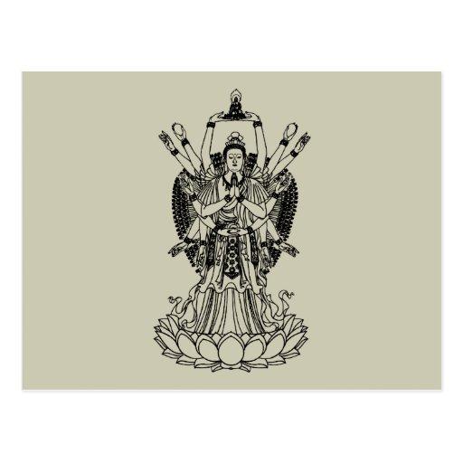 Goddess Of Mercy Post Card