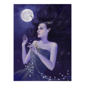 Goddess of Night Art Print