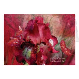 Goddess Of Passion ArtCard Greeting Card
