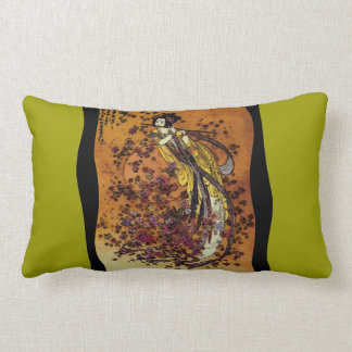 Goddess of Prosperity ~ CHANGE COLOR Lumbar 13x21 Throw Pillow