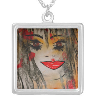 Goddess of Sexuality Earth Magic Jewellery Square Pendant Necklace