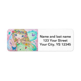 """""""Goddess of Spring"""" Custom Return Address Labels"""