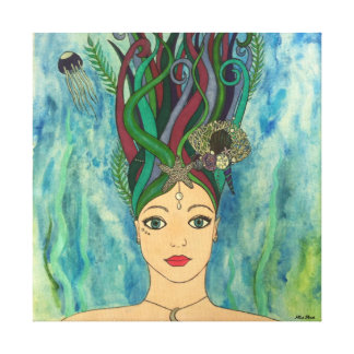 Goddess of the Deep Canvas Print