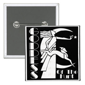 Goddess of the Hunt 2 Inch Square Button