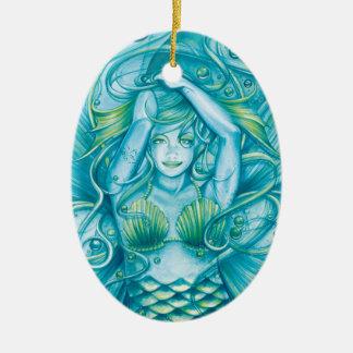 Goddess of the Sea Ceramic Ornament