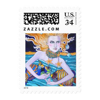 Goddess of the Sea Postage Stamp