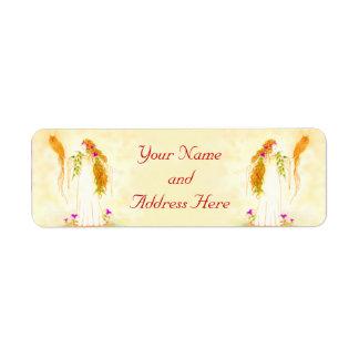Goddess of Wisdom Return Address Label