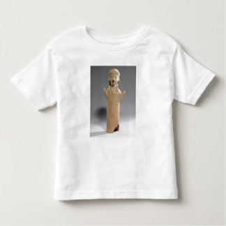 Goddess or worshipper with raised arms, figurine, toddler t-shirt