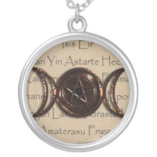 Goddess pentacle jewelry