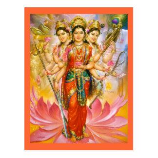 goddess postcard