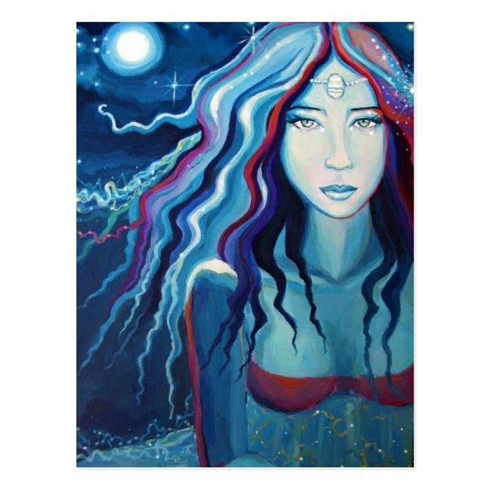 "Goddess Postcard - ""Electric Moon"""