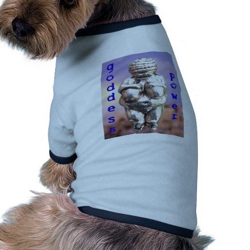 Goddess Power - Venus of Willendorf Doggie T Shirt