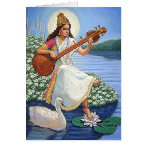 Goddess Sarasvati Cards