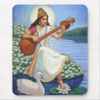 Goddess Sarasvati Mouse Pad