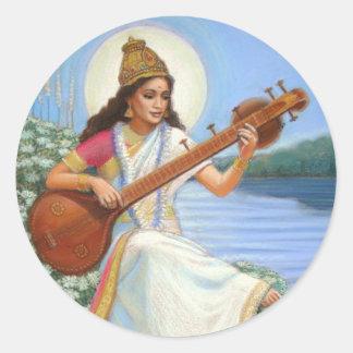 Goddess Sarasvati Sticker