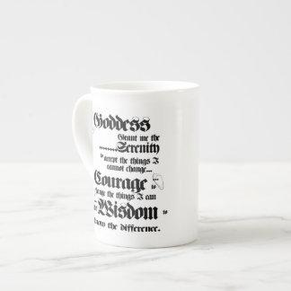 Goddess Serenity Prayer bone china mug