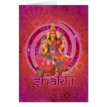 Goddess SHAKTI / LAKSHMI Greeting Card