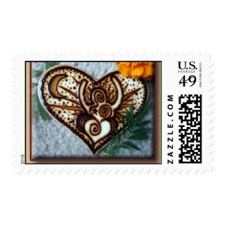 Goddess Stamp: Henna on wood design